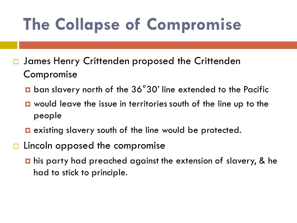 The Collapse of Compromise