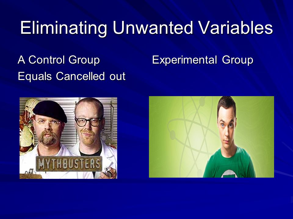 Eliminating Unwanted Variables