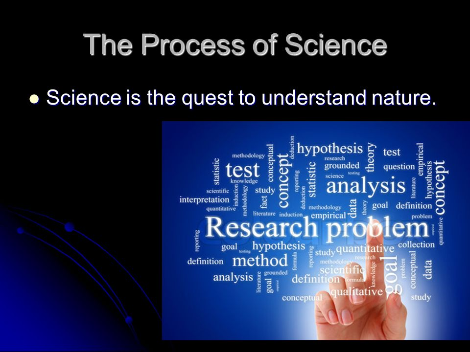 The Process of Science Science is the quest to understand nature.