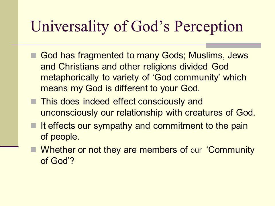 Universality of God's Perception