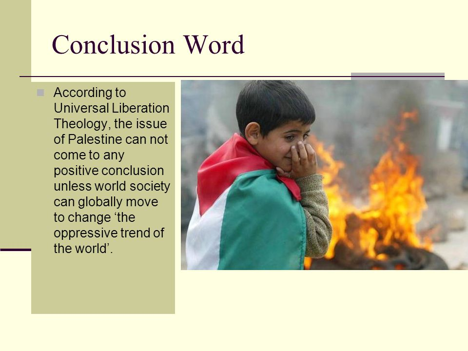 Conclusion Word