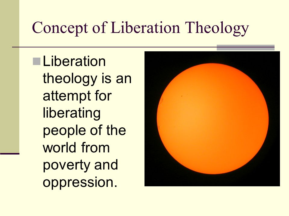 Concept of Liberation Theology