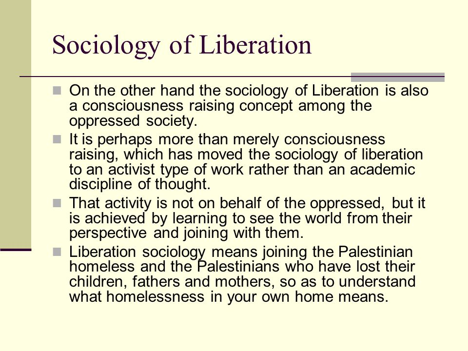 Sociology of Liberation