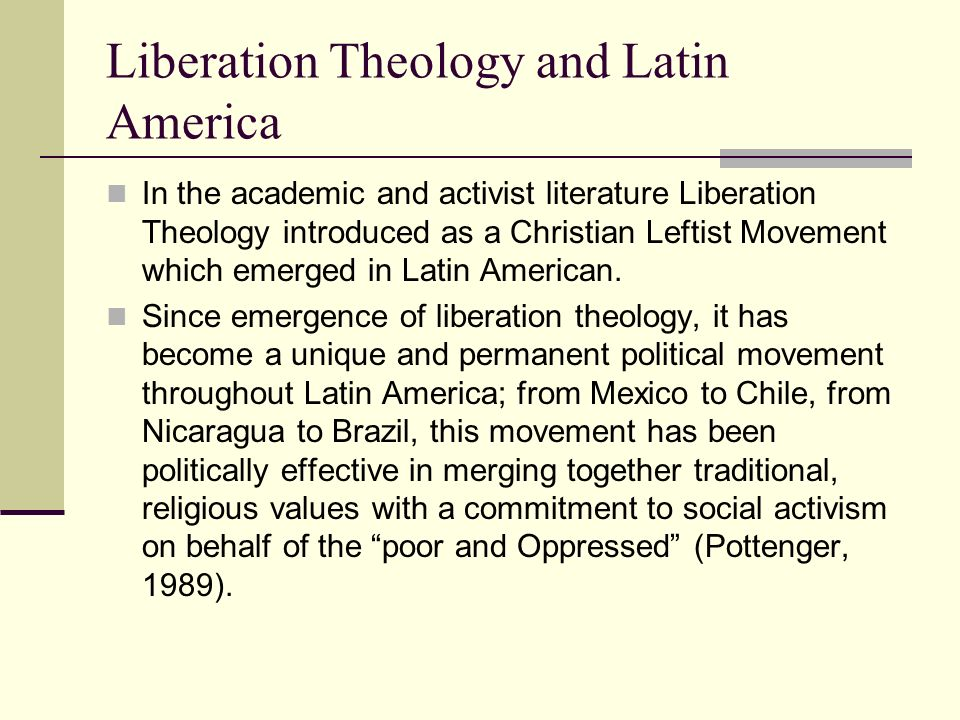 liberation theology as a double polarity