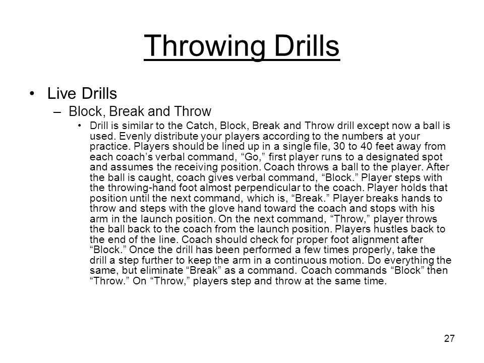 how to break a throw