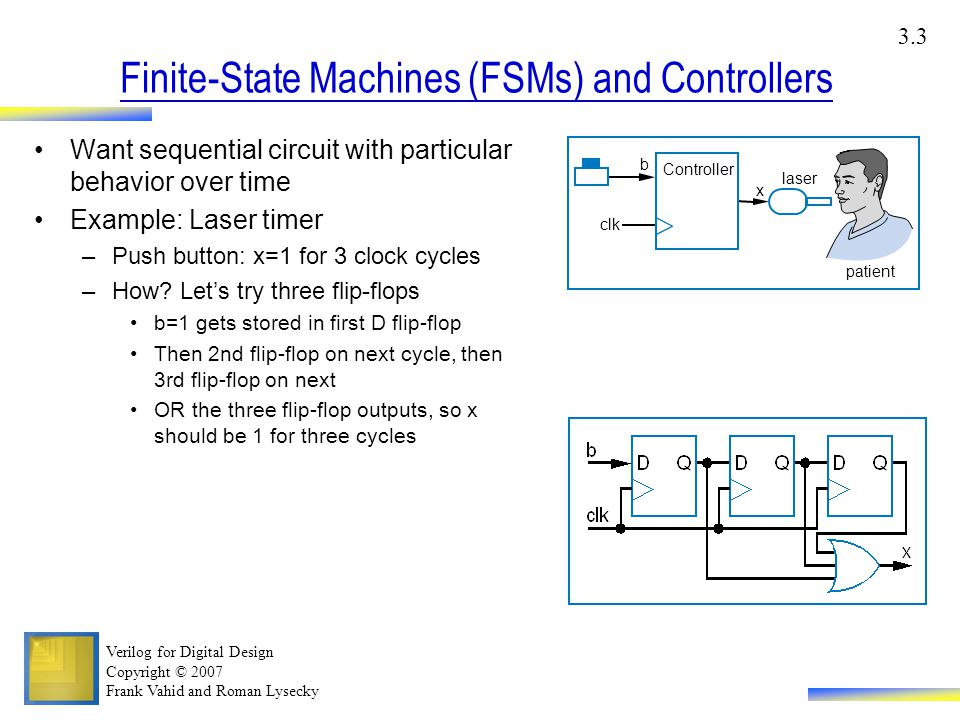 finite state machines 9 finite state machines the memory devices introduced in chapter 8 allow us to build digital systems, and components of digital systems, whose output reflects values of stored state variables as well as current inputs.
