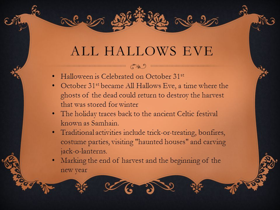 all hallows eve halloween is celebrated on october 31st - Why Is Halloween On The 31st Of October