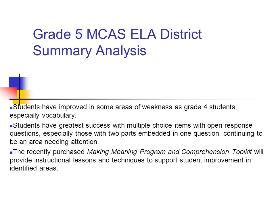 Mcas Data Analysis Supplemental Detail - Ppt Download