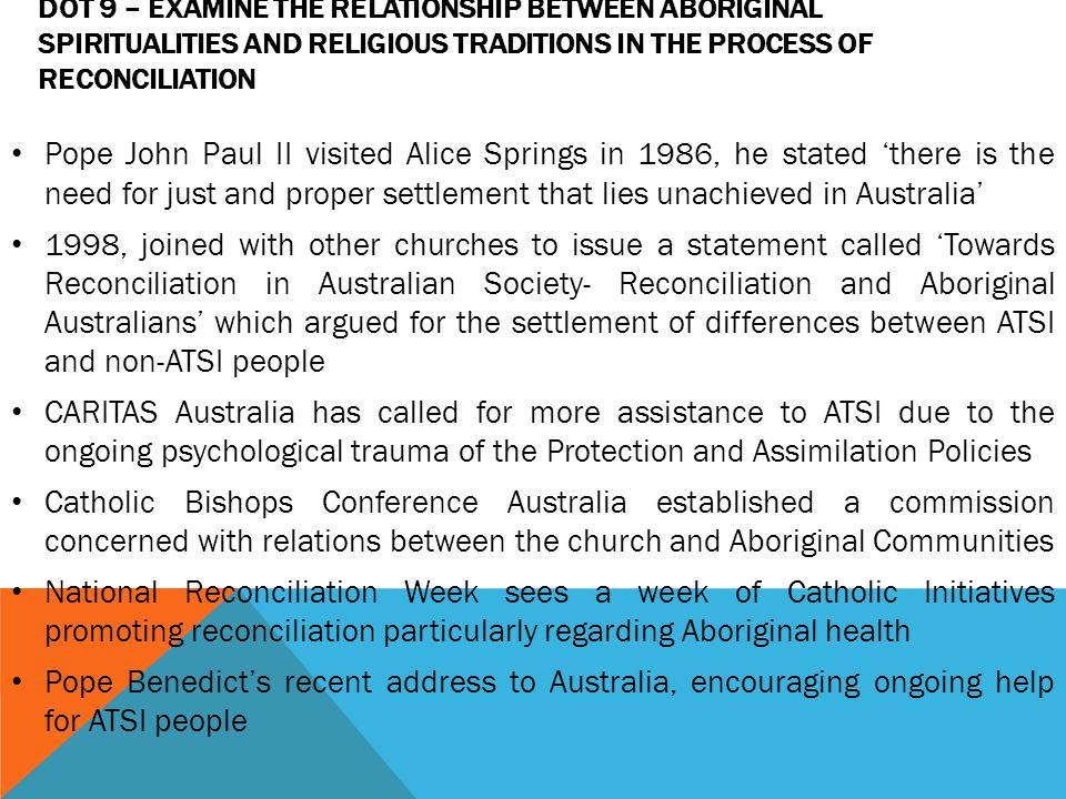 the relationship between aboriginal spiritualities and religious traditions