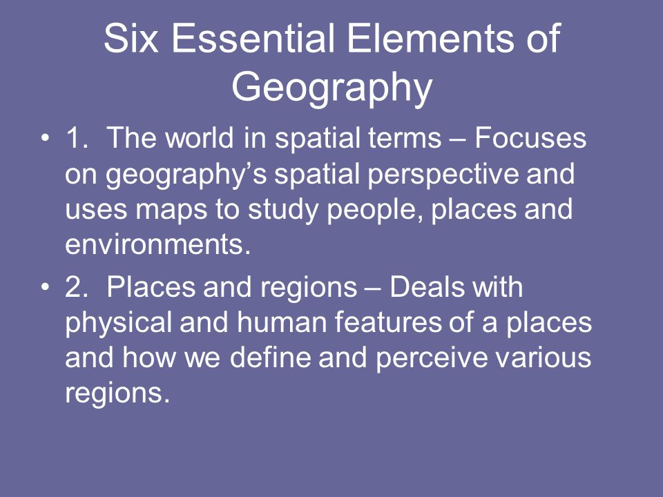 Chapter 1: Studying Geography - ppt download