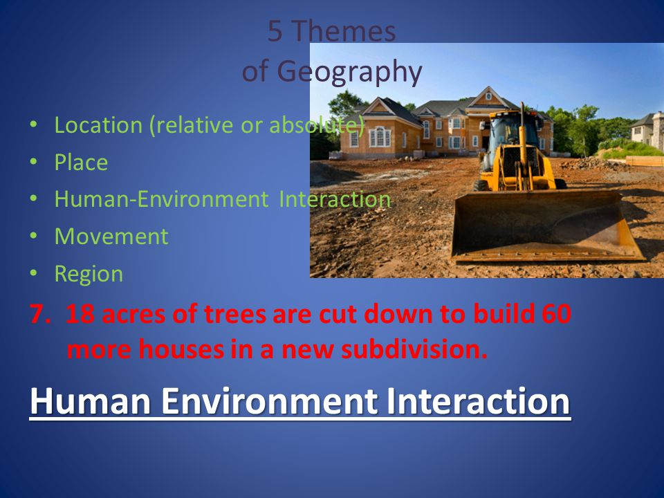 5 Themes of Geography. - ppt video online download