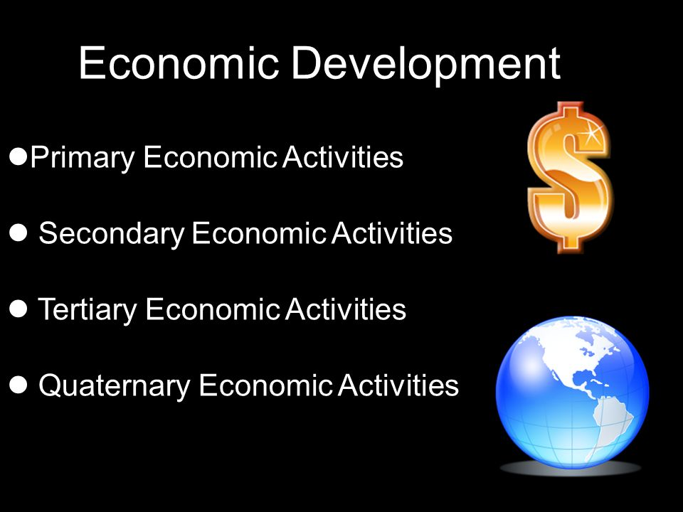Economic Development Primary Economic Activities