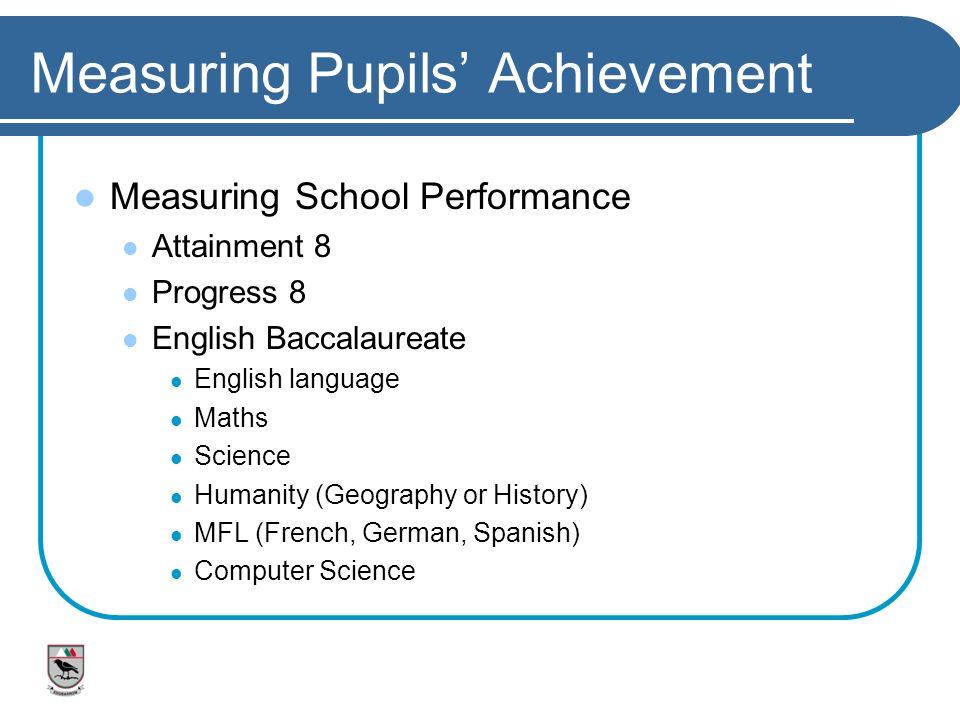 Measuring Pupils' Achievement