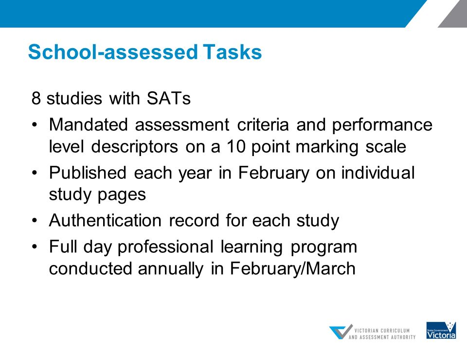 authentication record for school-assessed coursework