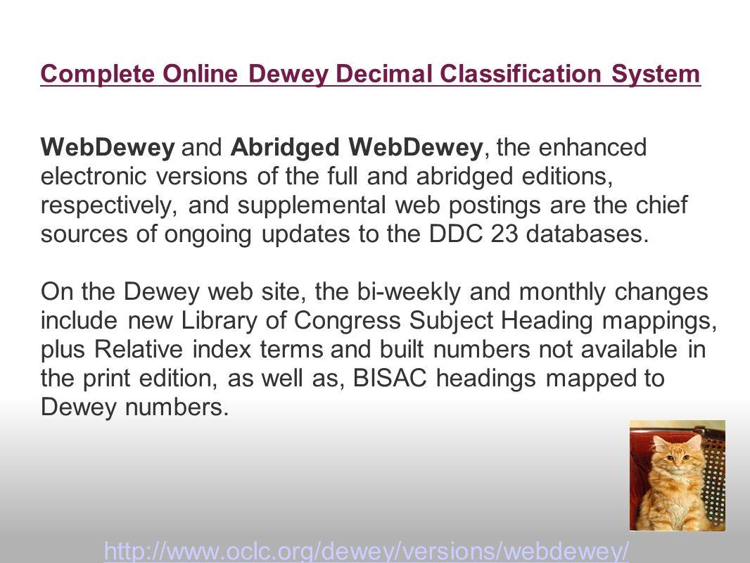 library of congress classification scheme pdf