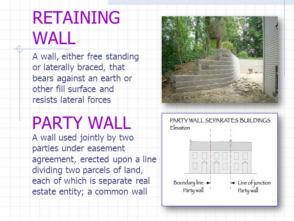 Architectural cad i im ppt video online download for Party wall agreement