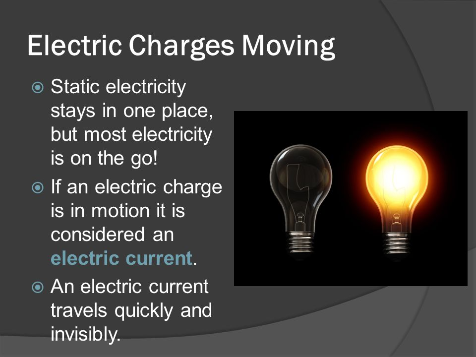 Electric Charges Moving