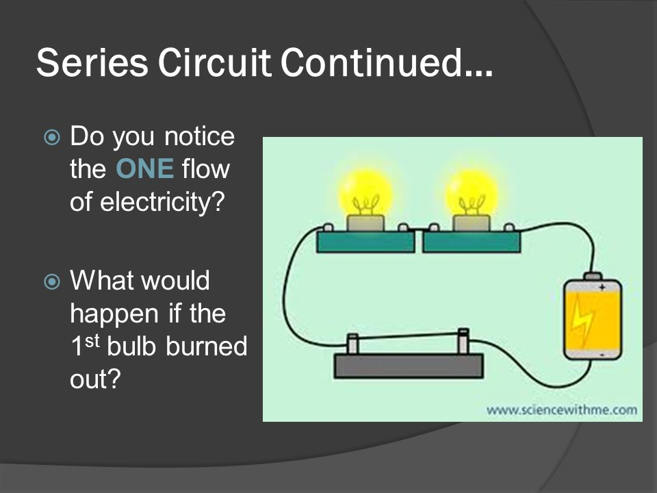 Series Circuit Continued…