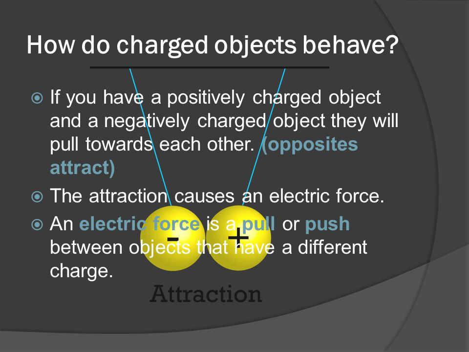 How do charged objects behave