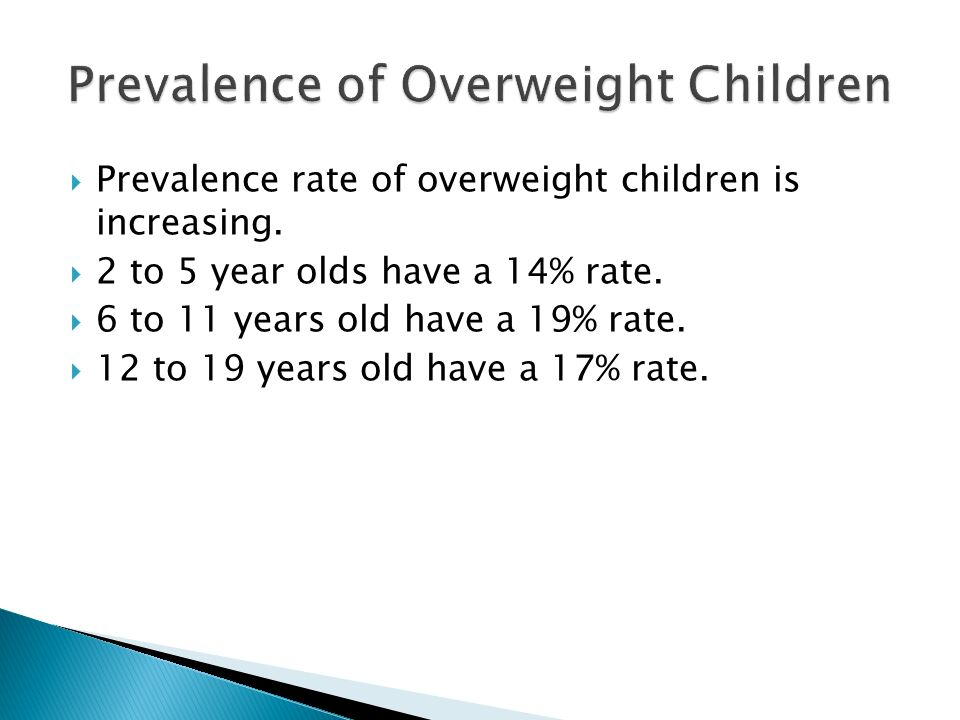 Prevalence of Overweight Children