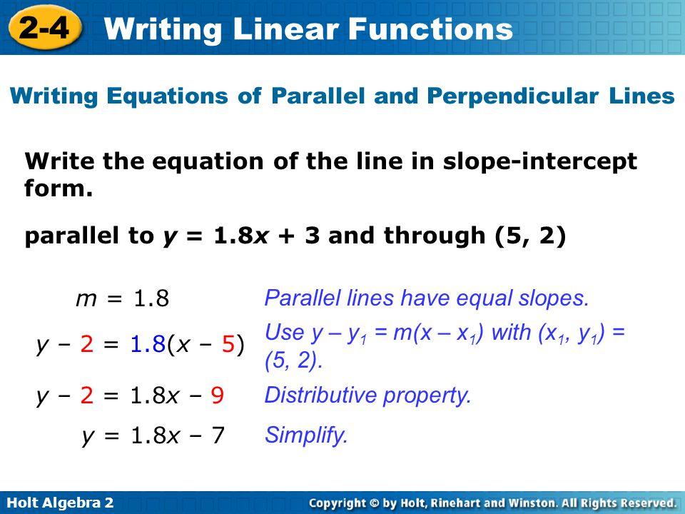 2 4 Writing Linear Equations Answer Key - Tessshebaylo