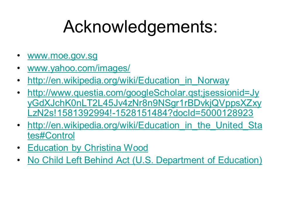 no child left behind policy review essay Child care and child development: an economist's view, in utdanning/forskning kunnskapsdepartementet (ed), nordic early childhood education and care - effects and challenges research - practice - policy making norwegian ministry of education and research.
