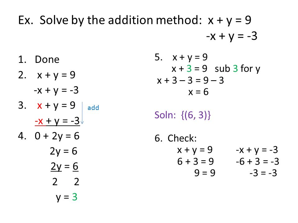 solve x and y