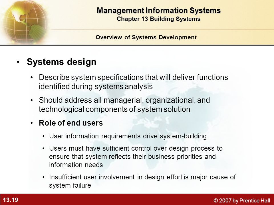 management information system and users How the company's account managers will be notified when information system users are terminated or transferred and associated accounts are facility access control system: (including user interface services) from information system management functionality you may describe.