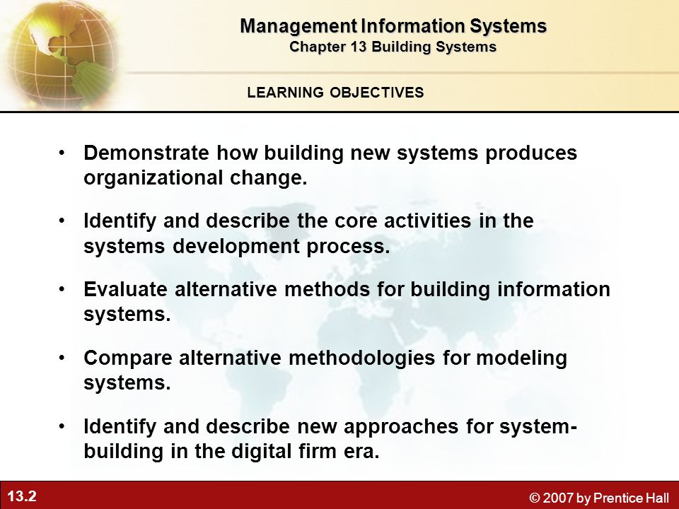 management information system chapter 2 The production process 2  and information 19 an enterprise system would play a vital role in which of the  management information systems chapter 1- 4.
