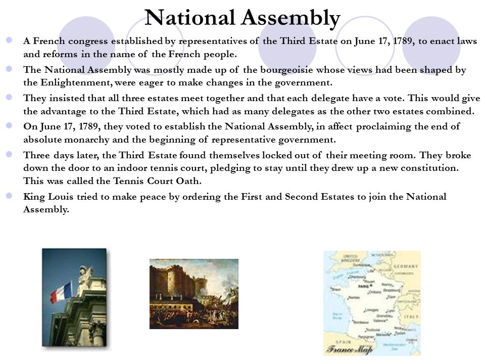 an analysis of the declaration of the national assembly in the third estate The third estate comprises of businessmen, merchants, peasants  the national assembly voted in april 1792 to declare war against prussia and austria  as the sans-culottes, literally meaning those without knee breeches.