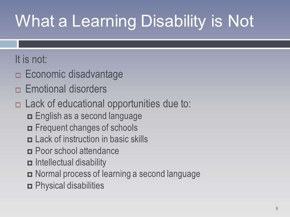 misconceptions about learners with learning disabilities Teaching students with learning disabilities learning disabilities and low iq do not go hand in hand, and that misconception is the stigma attached to having a.