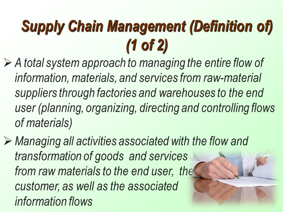 supply chain definitions Designing and operating distinctly different end-to-end value chains (from customers to suppliers) optimized by a combination of unique customer value, product attribute, manufacturing and supply capabilities, and business value considerations in essence, supply chain segmentation is the dynamic.