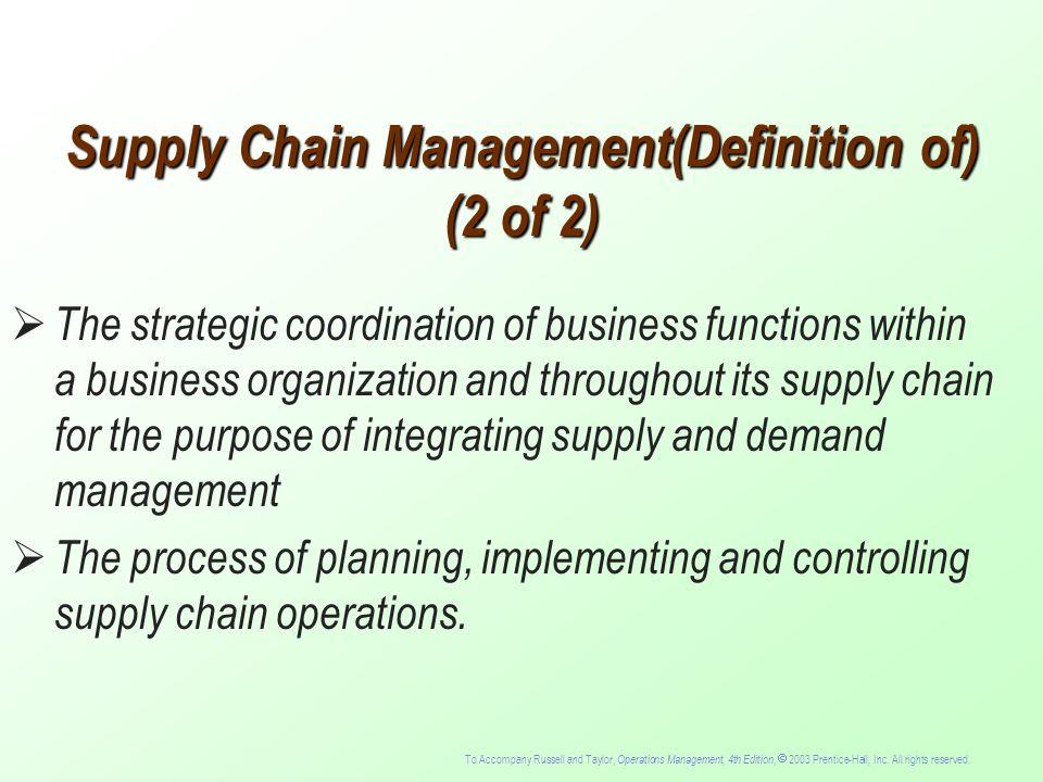 supply chain management definition