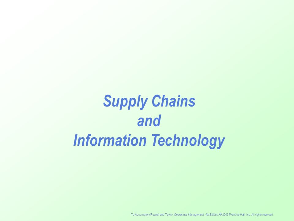 the role of technology in supply chains J healthc inf manag 2005 spring19(2):27-33 the evolving role of supply chain  management technology in healthcare langabeer j(1) author information.