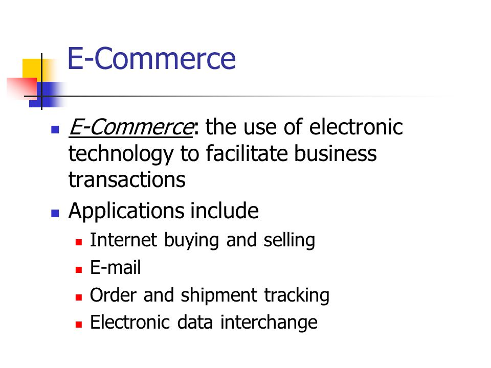 the role of e commerce in facilitating supply chain management Third, online processing improves inventory management and logistics  the  public sector assumes a pilot/leading role in establishing e-commerce and   auctions facilitated at a portal, such as ebay, which allows online real-time  bidding on.