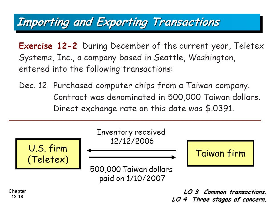 Importing and Exporting Transactions