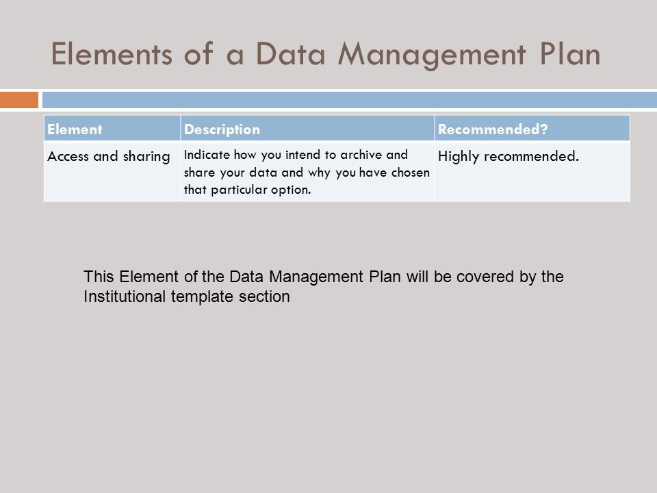 data management strategy template - guidance on preparing a data management plan ppt video