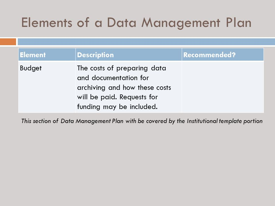 Guidance on Preparing a Data Management Plan - ppt video online ...