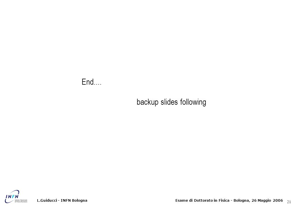 backup slides following