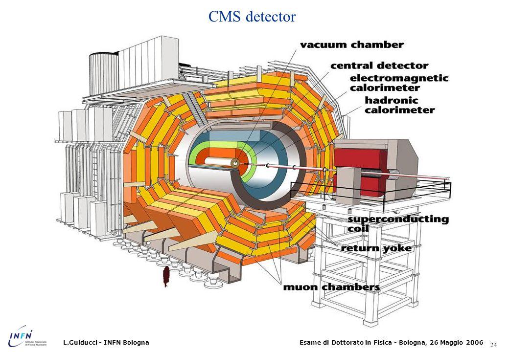 CMS detector L.Guiducci - INFN Bologna