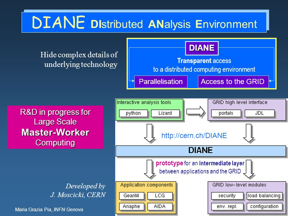 DIANE DIstributed ANalysis Environment