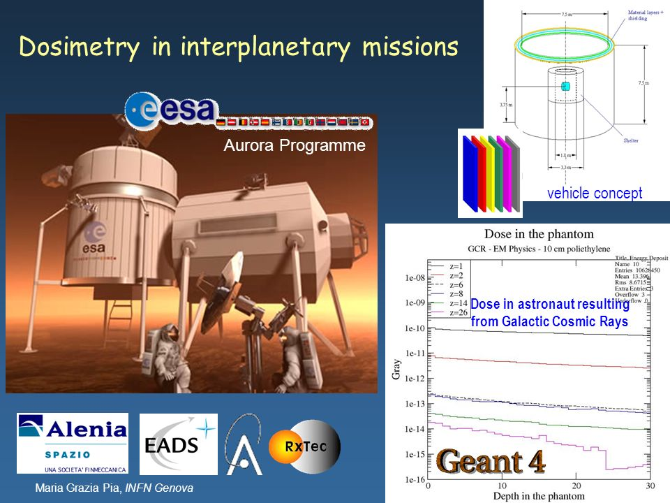 Dosimetry in interplanetary missions