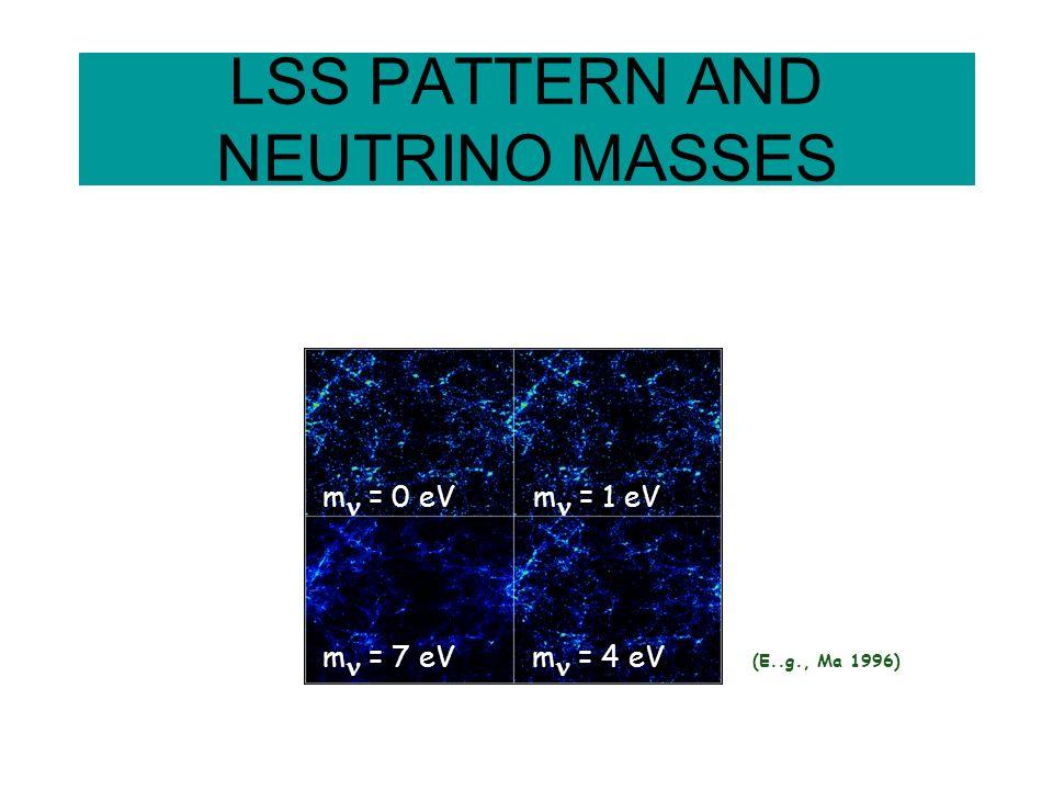 LSS PATTERN AND NEUTRINO MASSES