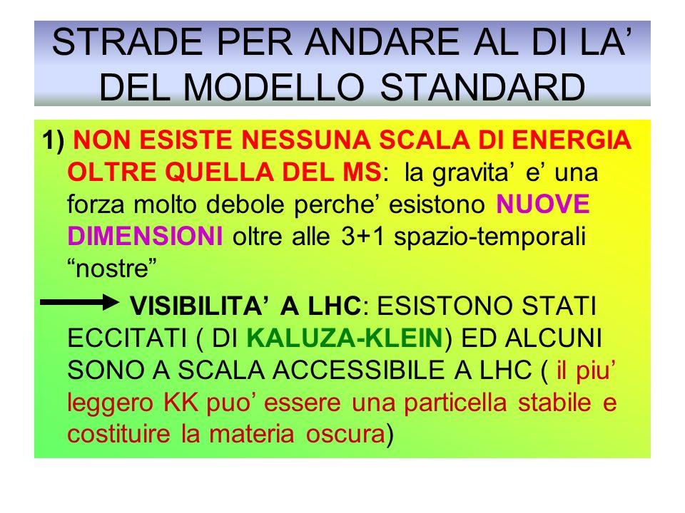 STRADE PER ANDARE AL DI LA' DEL MODELLO STANDARD