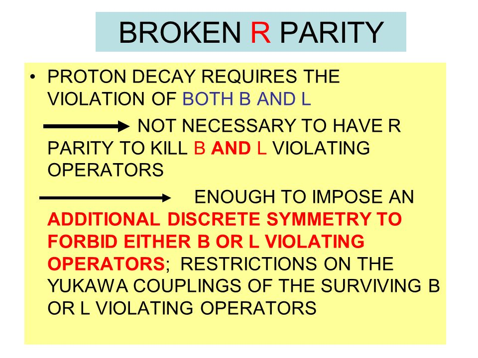 BROKEN R PARITY PROTON DECAY REQUIRES THE VIOLATION OF BOTH B AND L