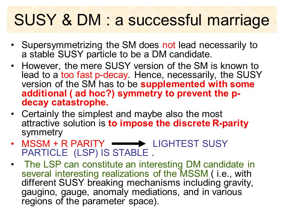 SUSY & DM : a successful marriage