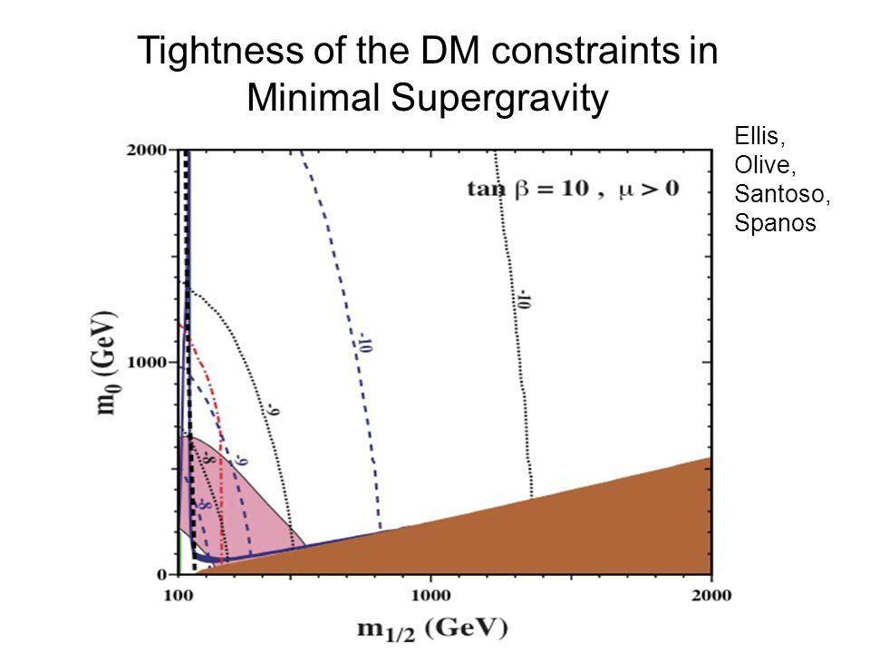 Tightness of the DM constraints in Minimal Supergravity