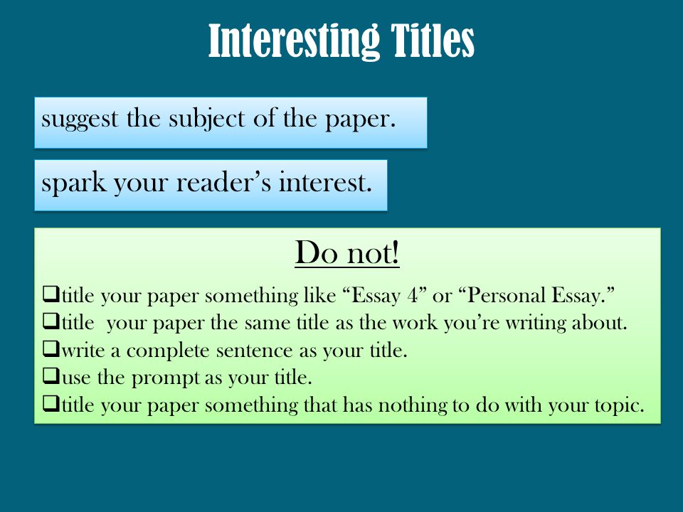 Thesis Statement For Essay Cool Thesis Titles Compare And Contrast Essay Examples High School also Science Essay Ideas Cool Thesis Titles  Irempolatavtr Graduating High School Essay