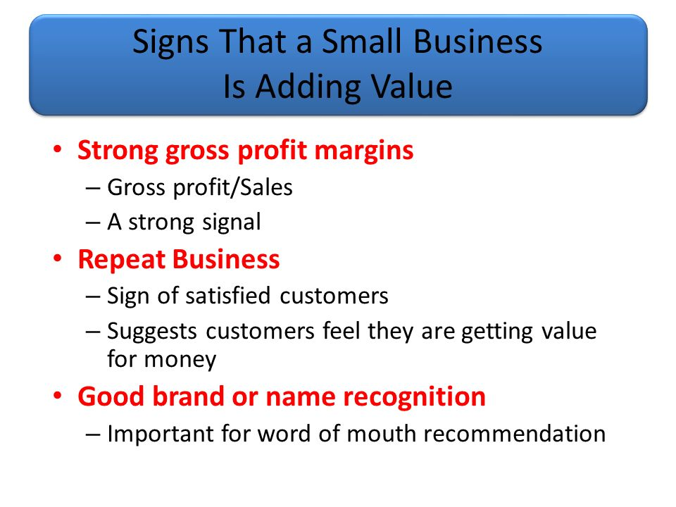 how to add value to a small business