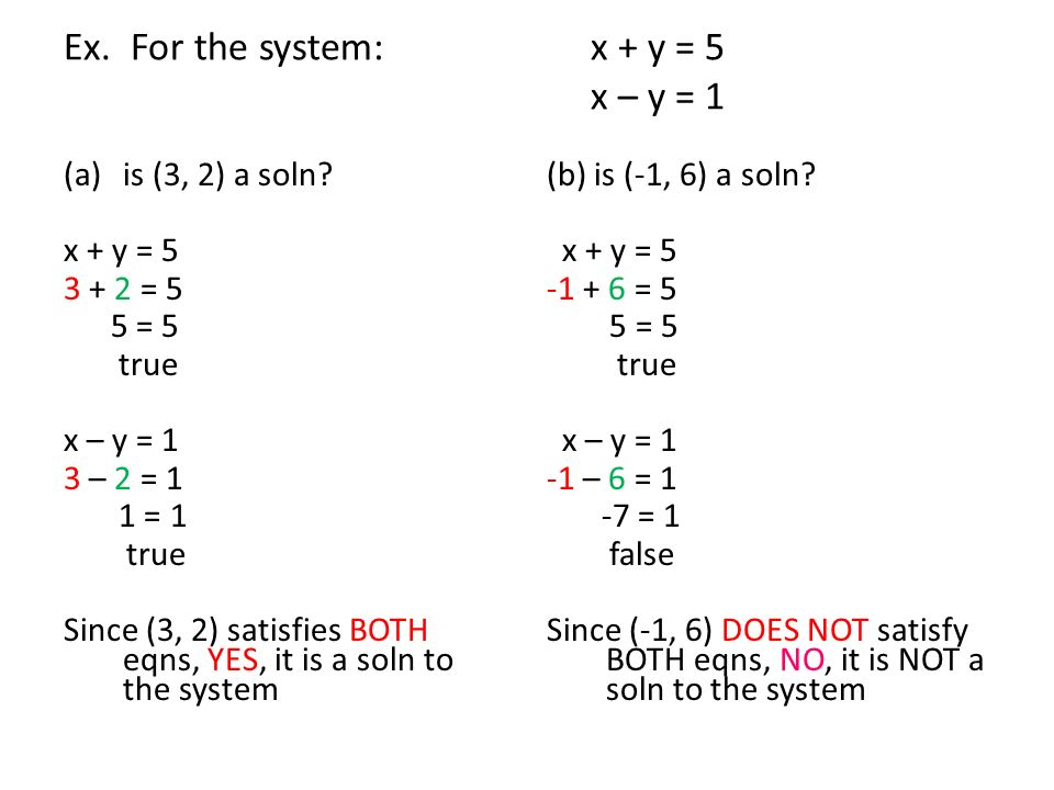 5.1 Solving Systems of Linear Equations by Graphing - ppt download